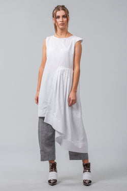 Folded Pages Dress - White