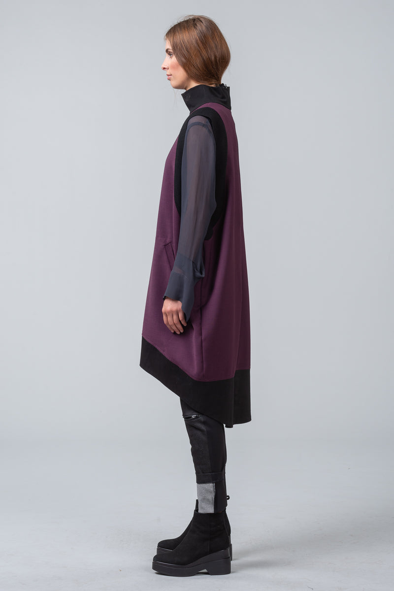 ENVELOPE DRESS - purple