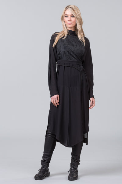 Hello Darkness coat dress - black