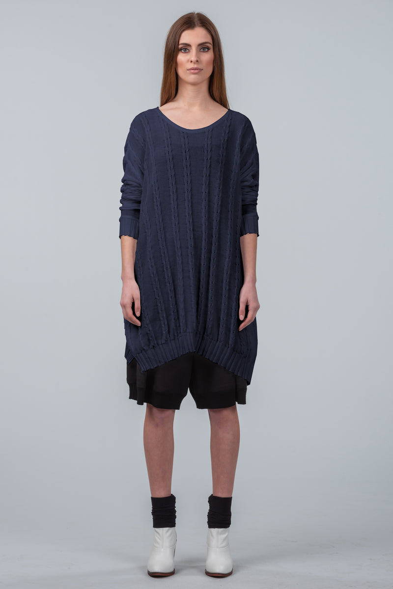 Curbing Time sweater dress - midnight