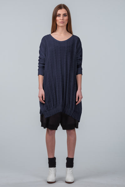 Curbing Time sweater dress - midnight 3745c2a40
