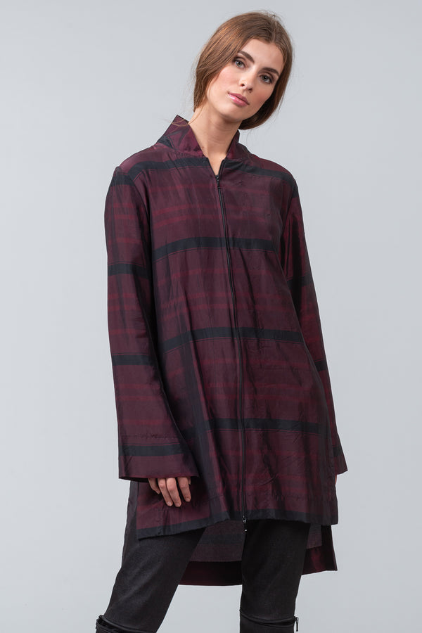 UNDERPRINT SHIRT - burgundy