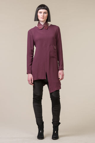 Thin Lines Overdress - dark rose