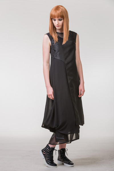 Tracing Paper Dress - black