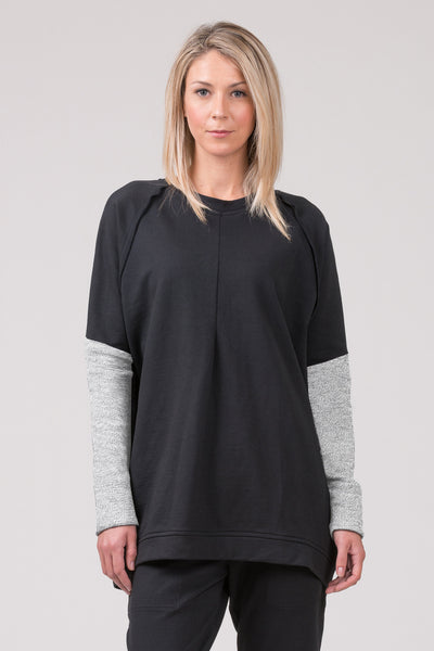 Polished  Concrete sweatshirt - black with pale grey