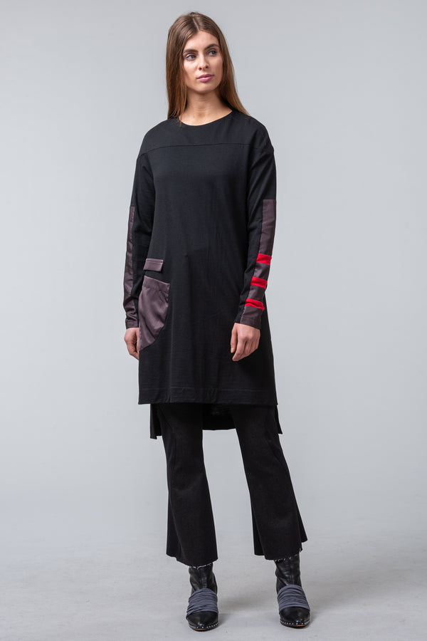 Destination Autumn - merino dress - black