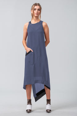 Miss Belief Dress - Blue Smoke