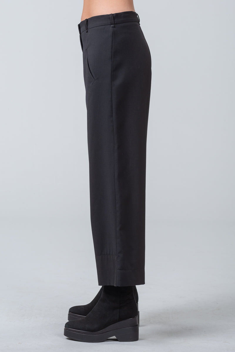 HALLMARK - wool pants - black