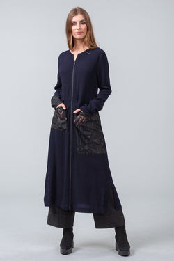 OFFSET DRESS - midnight