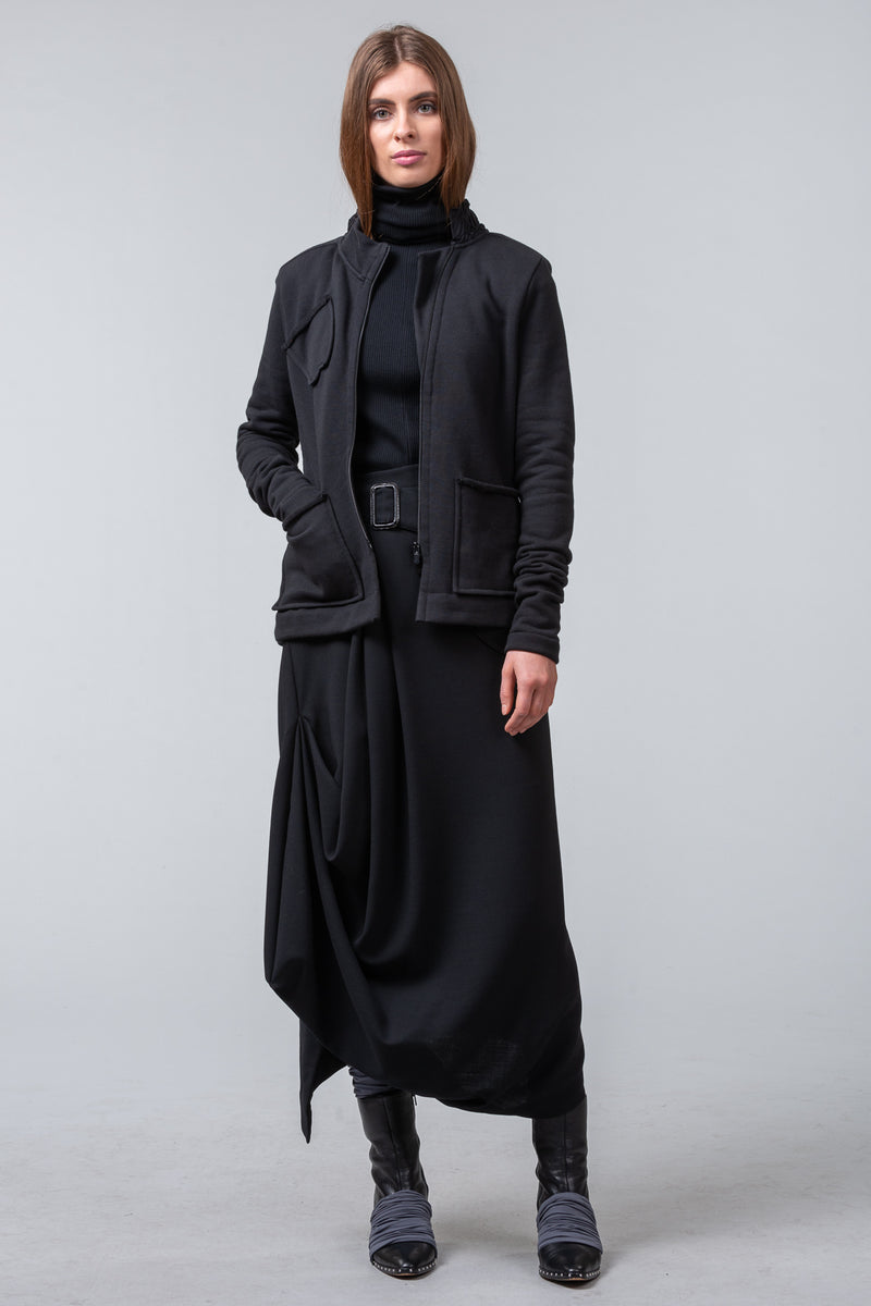 Cold Comfort - sweat shirting jacket - black
