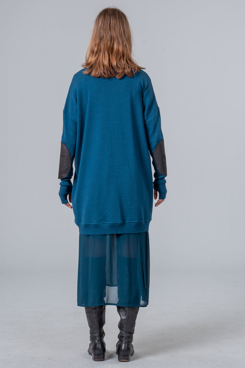 On The Road - merino jumper - dark teal
