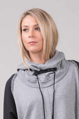 Gable Hooded Scarf - cotton - marble