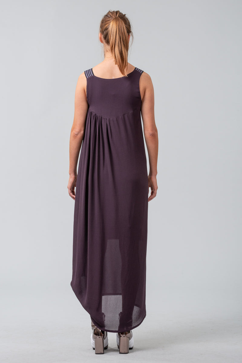 Neo-Minimalist Dress - dark plum