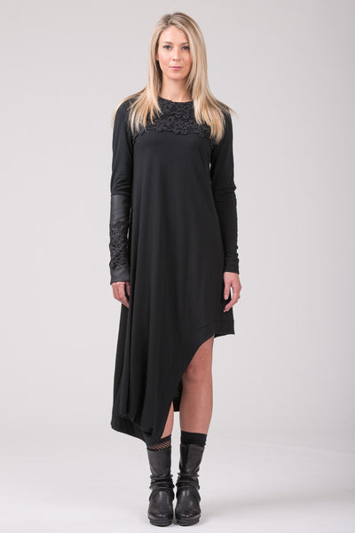 Lady of Paris merino dress - black