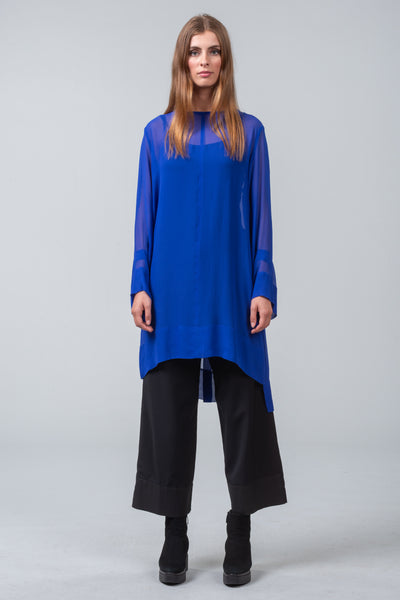 MINT EDITION - viscose overdress + scarf - cobalt blue