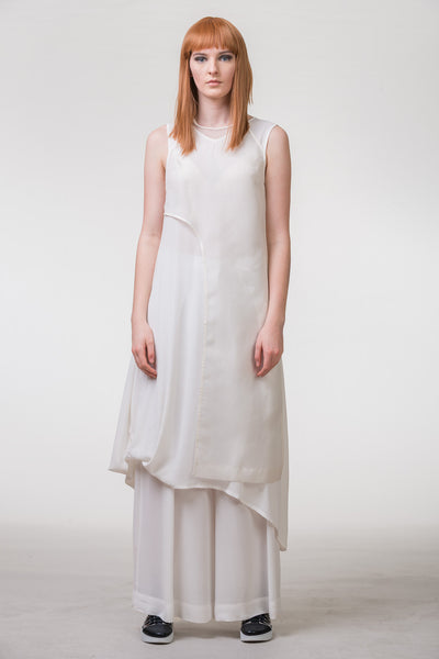 Tracing Paper Dress - chalk