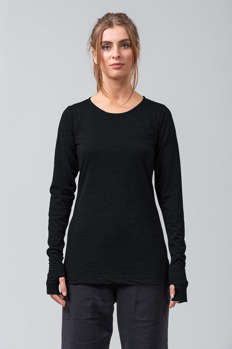 BASELINE - merino top - black