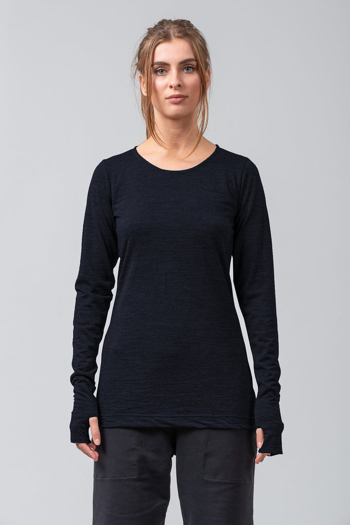 BASELINE - merino top - midnight