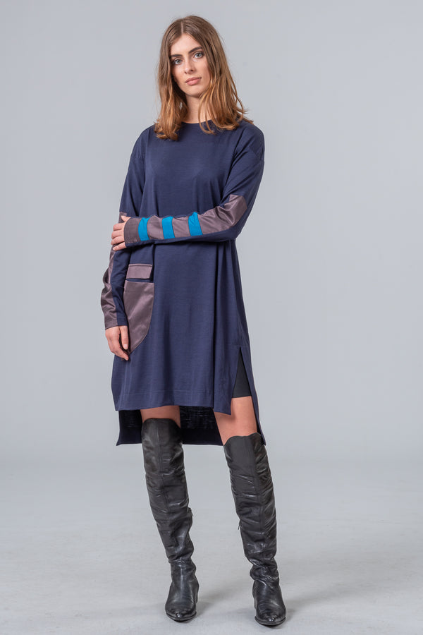 Destination Autumn - merino dress - midnight