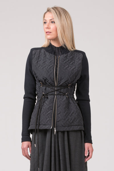 Best Seller - Cathedral Jacket with quilted body and merino sleeves