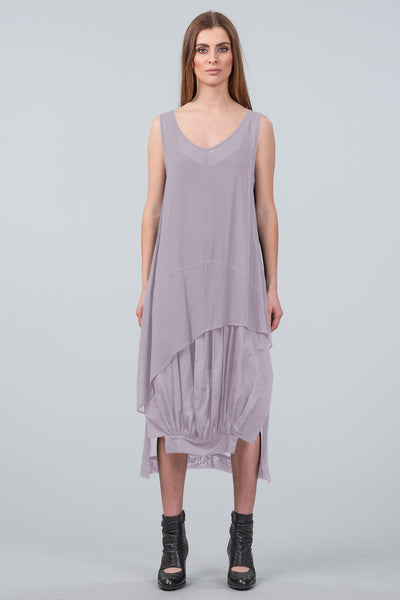Gathered in Time Dress - dusk