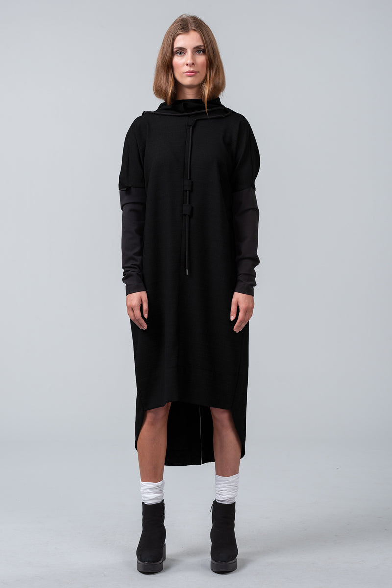 INSCRIPTION viscose dress - black