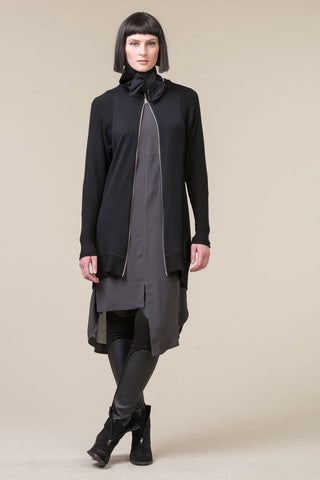 Minot Knit Coat - black