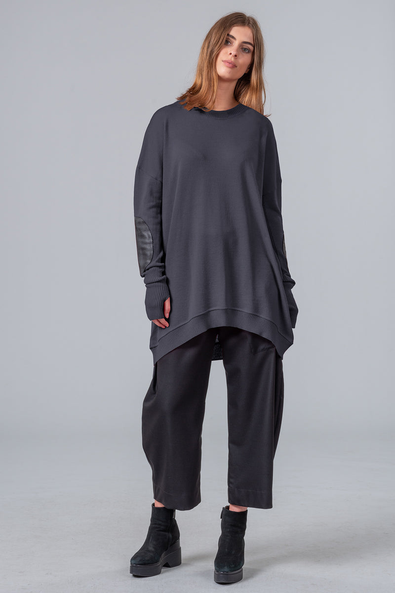 On The Road - merino jumper - granite