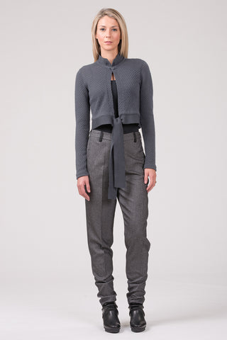 Short Plan - box cardigan - dark grey