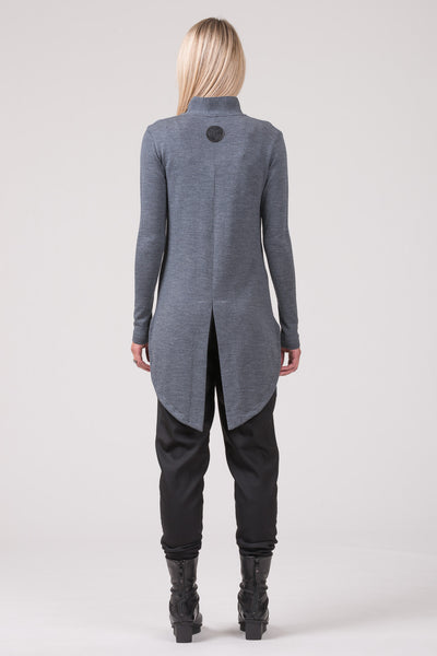 Talking Statues longline cardigan - grey