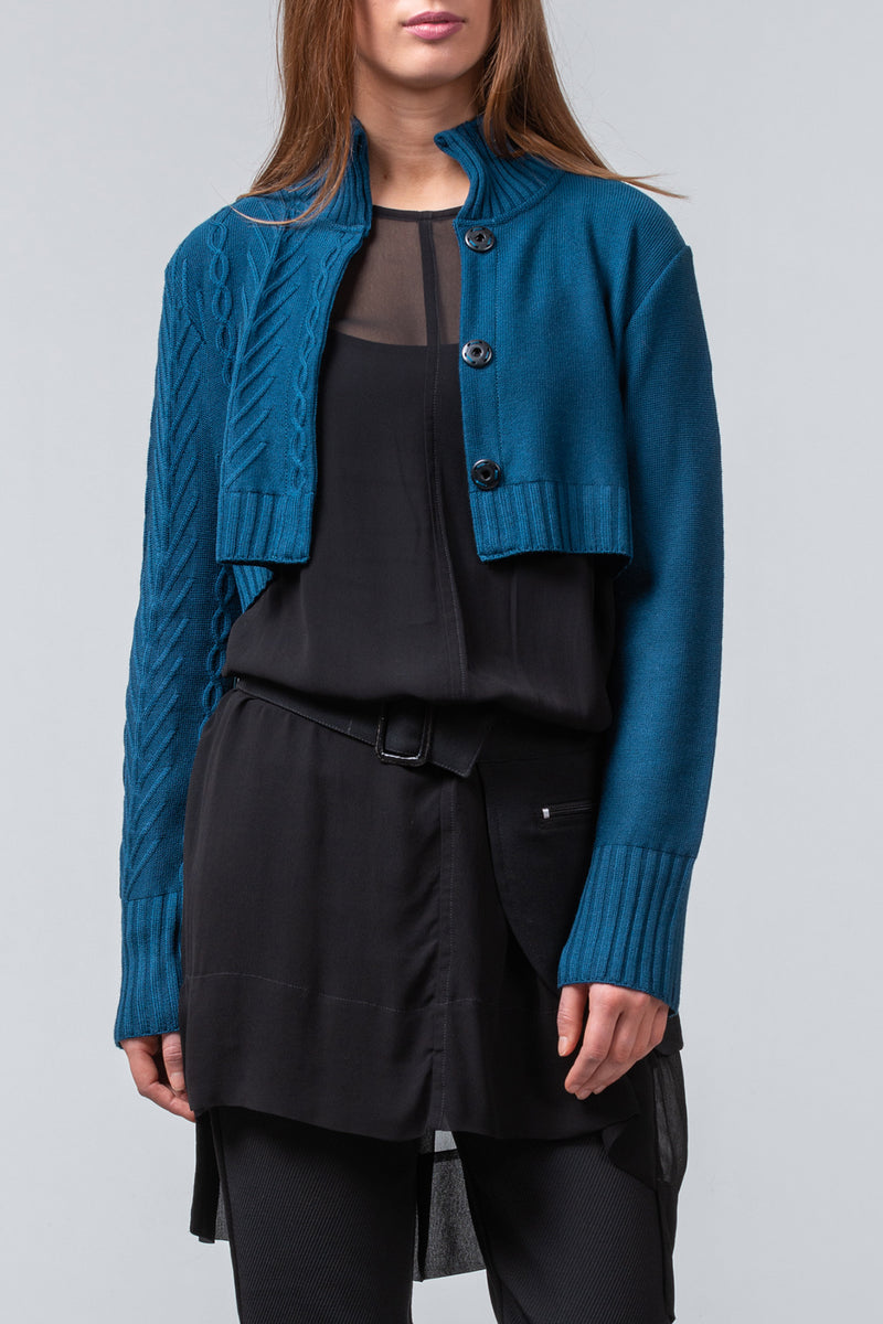 New York Blues cardigan - dark teal