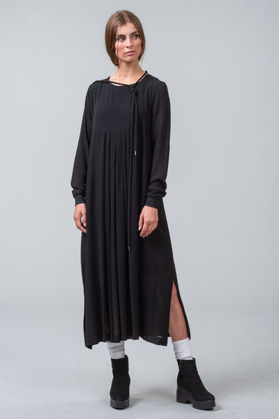 WATERMARK viscose dress - black