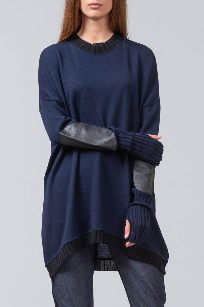 NEW ISSUE - merino sweater - navy