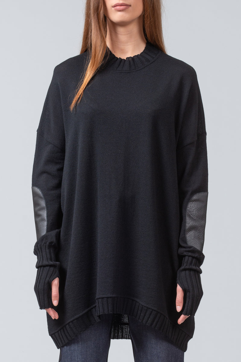 NEW ISSUE - merino sweater - black
