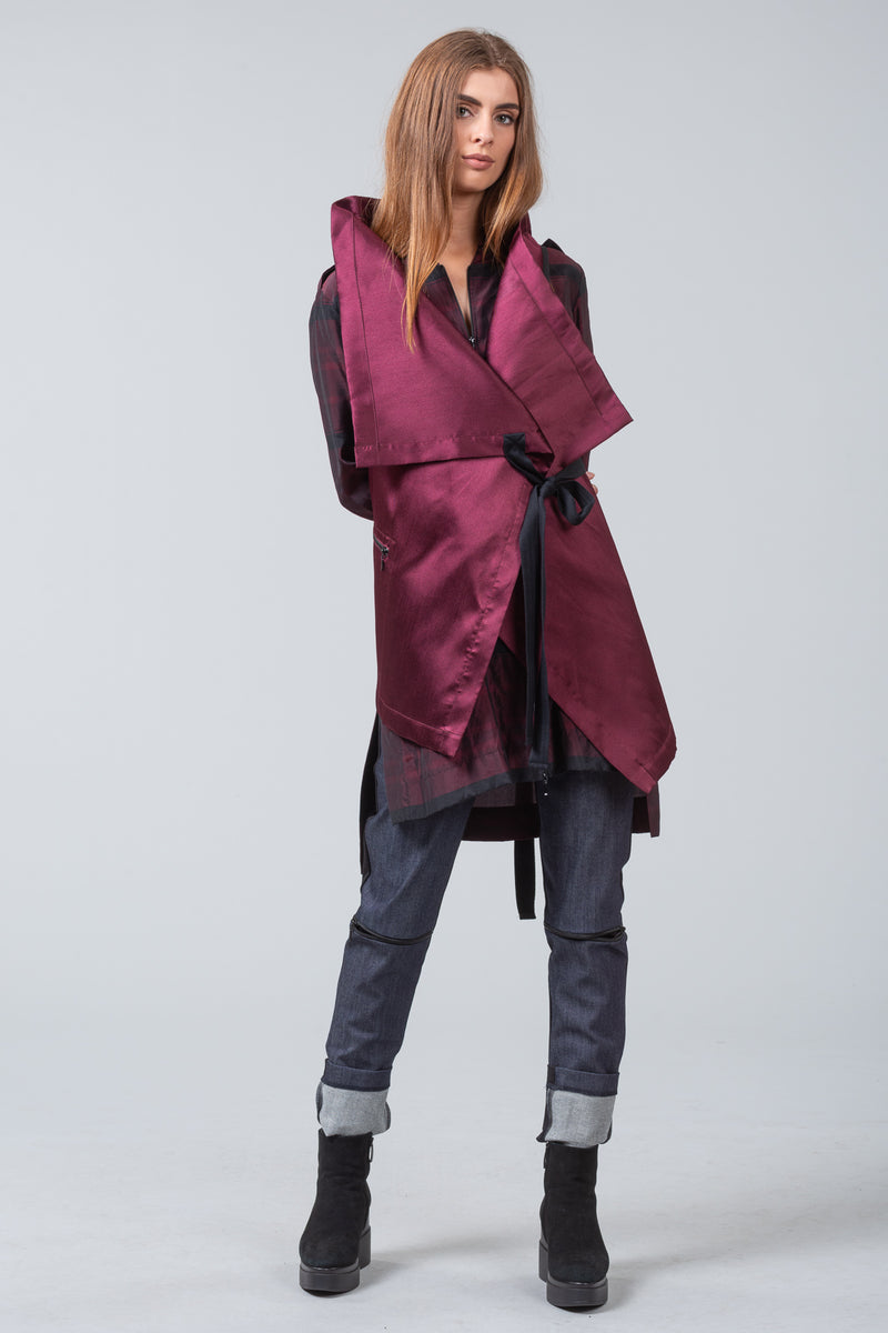 TRANSIT - sleeveless jacket - merlot