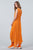 Cloud Dancer Asymmetrical Dress - orange