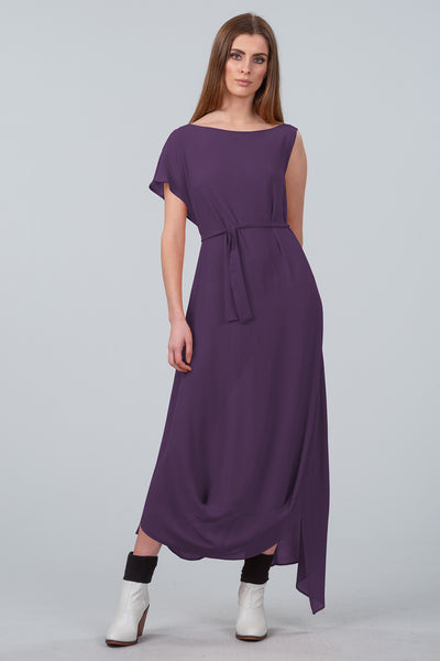 Cloud Dancer Asymmetrical Dress - purple