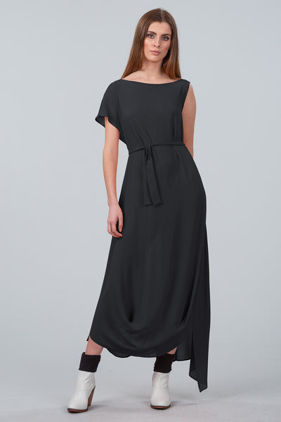 Cloud Dancer Asymmetrical Dress - black