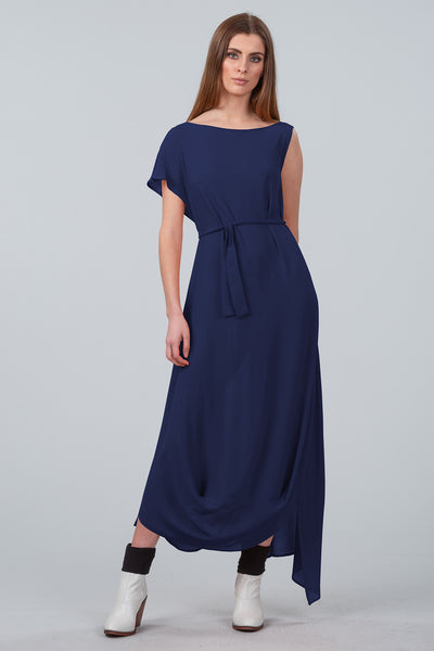 Cloud Dancer Asymmetrical Dress - dark royal