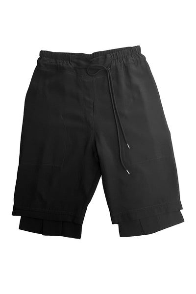 Short Steps Shorts - Black viscose