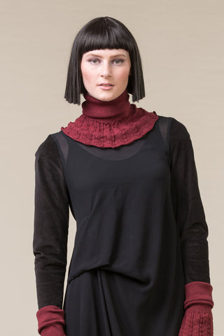 Knit Collar - dark rose