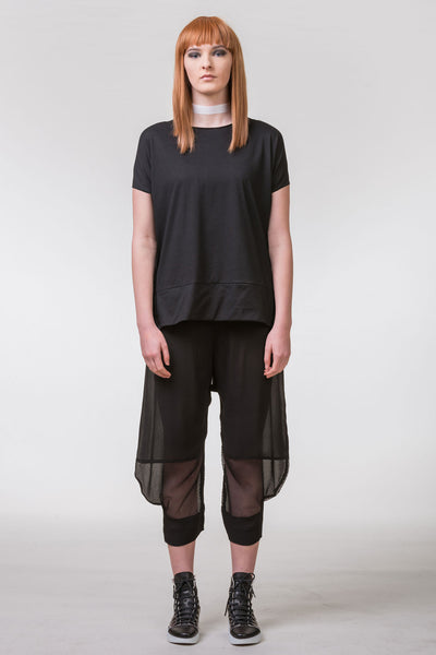 Pencil Pusher Cotton Top - black