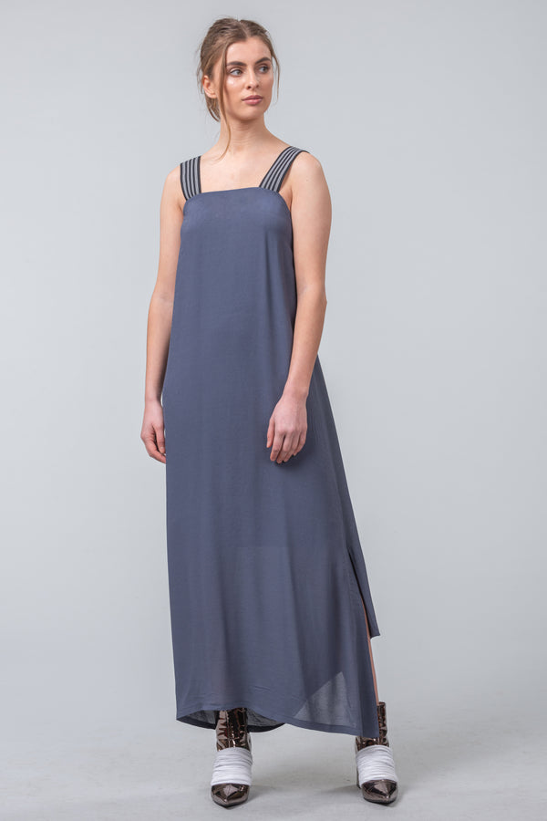 Neo-Minimalist Dress - blue smoke