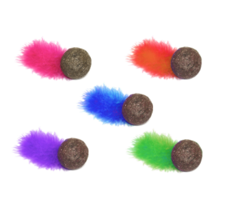 MultiPet Compressed Catnip Ball with Feather