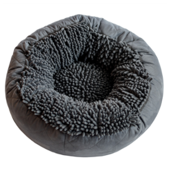 Dirty Dog Round Bed Grey 18 x 18