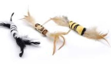 Turbo Animal Print Feather Bulk Cat Toys