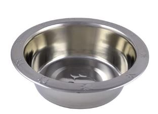 Stainless Steel Dish with Paw