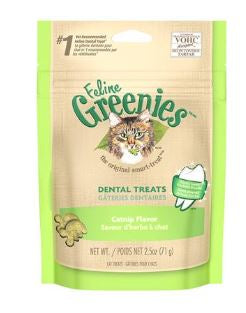 Greenies Dental Cat Treats Catnip Flavor 2.5oz
