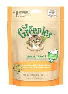 Greenies Dental Cat Treats Roasted Chicken 2.5oz