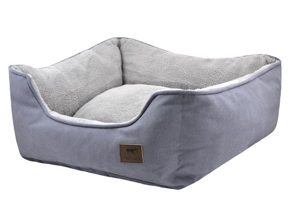 Tall Tails Charcoal Bolster Bed